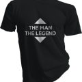 The Man The Legend Mens Black Tshirt