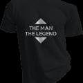The Man The Legend Mens Black Tshirt