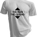 The Man The Legend Mens White Tshirt