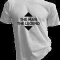 The Man The Legend Mens White Tshirt