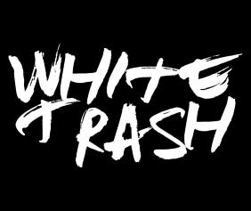 White Trash Black Tshirt Logo