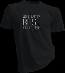 will-write-bash-for-cash-black-tshirt