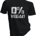 Zero Percent Vegan Black Tshirt
