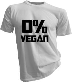 Zero Percent Vegan White Tshirt