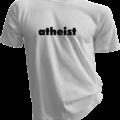 atheist White Tshirt